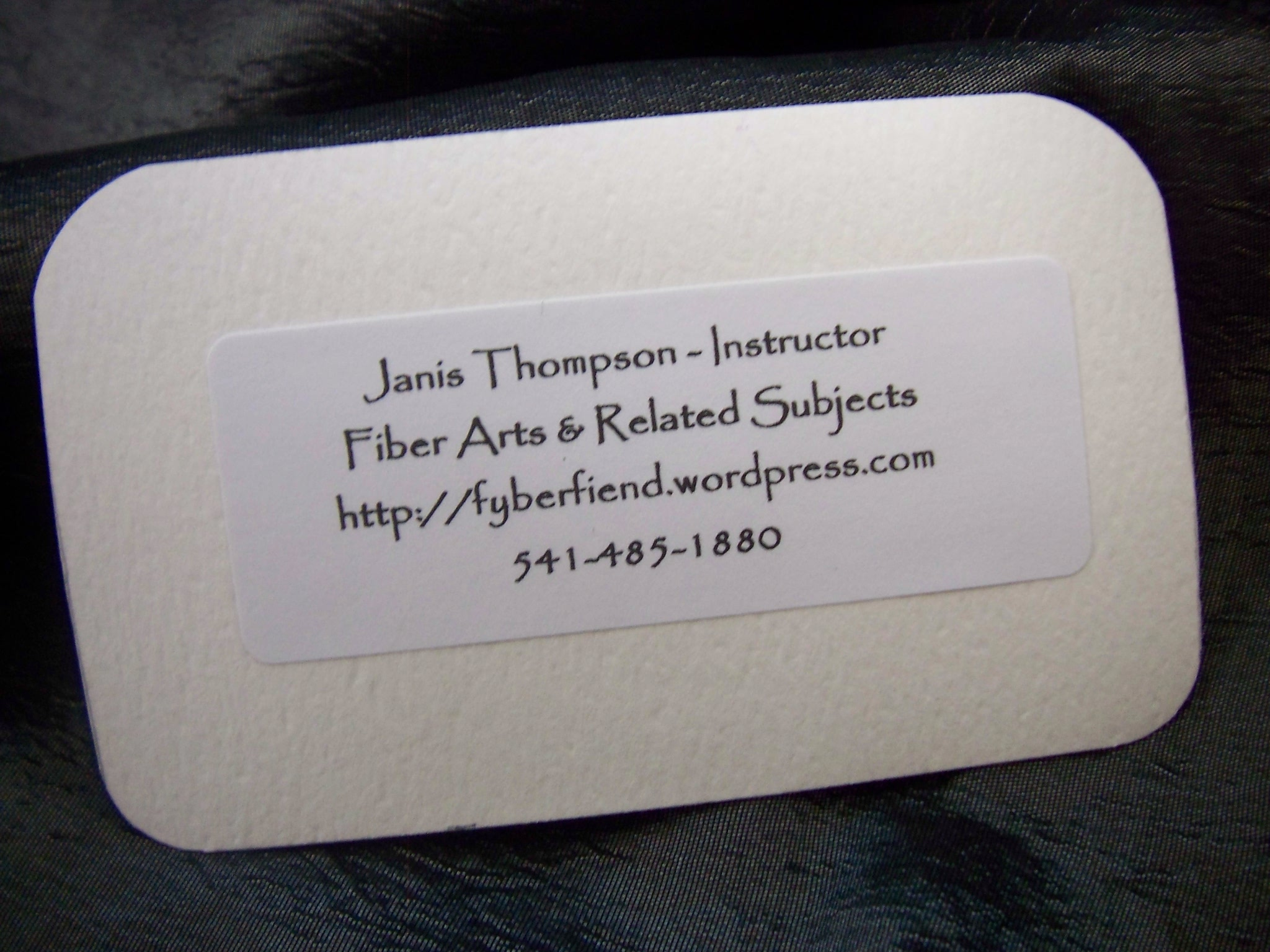 Business card couture adventures in fiber arts janis thompson image image image image image image magicingreecefo Image collections
